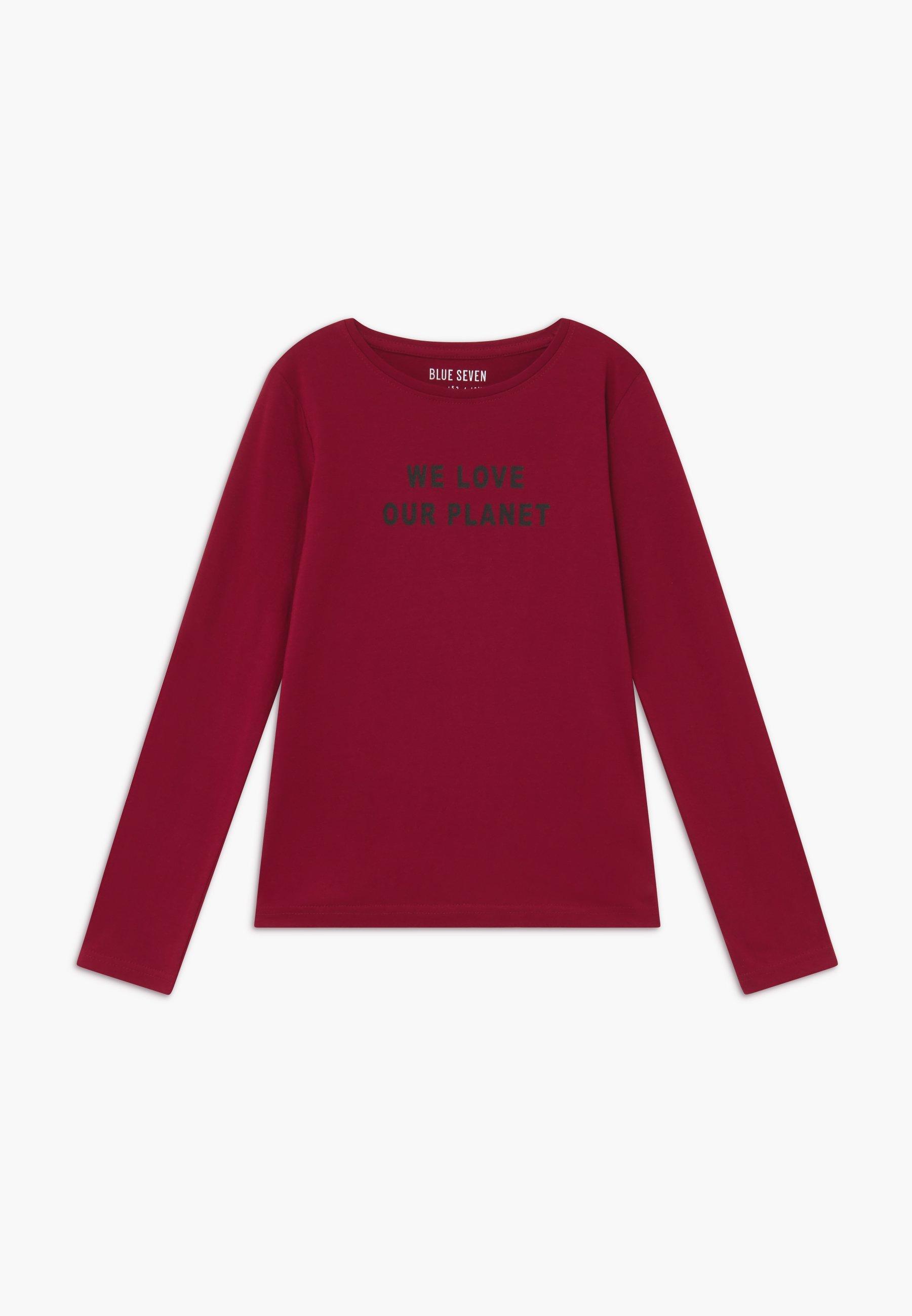 Blue Seven TEENS LOVE OUR PLANET  - Bluzka z długim rękawem - bordeaux - Ubranka dla dzieci
