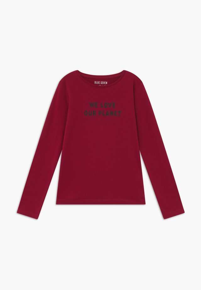 TEENS LOVE OUR PLANET  - Longsleeve - bordeaux