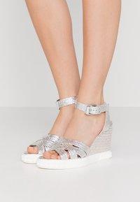 Casadei - High heeled sandals - argento - 0
