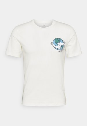 RENEW LOVE YOUR MOTHER GRAPHIC TEE UNISEX - Print T-shirt - egret