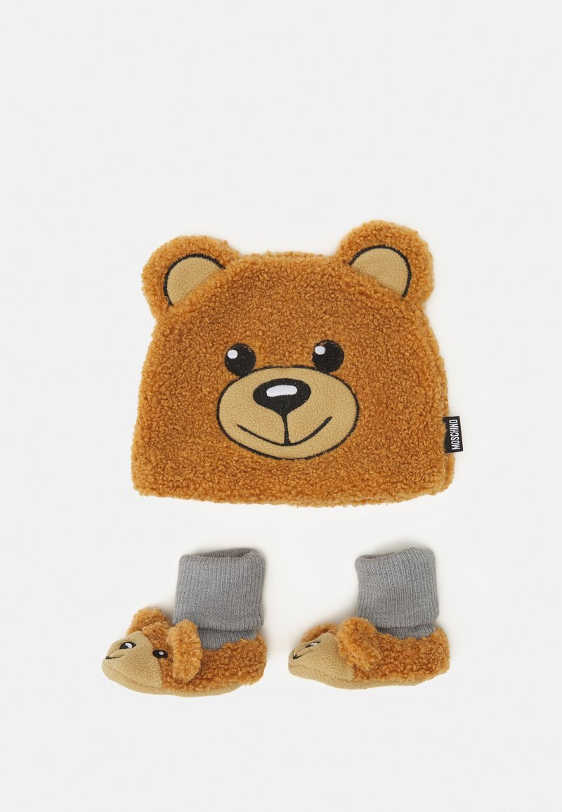 MOSCHINO - HAT & BOOTIES BOX SET UNISEX - Beanie - marrone orsetto