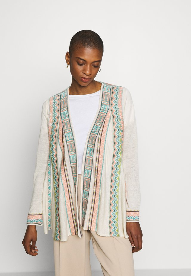 JACKET WITH PLEATS - Strikjakke /Cardigans - off-white