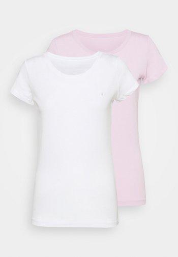2 PACK - Basic T-shirt - natural white/quartz rose