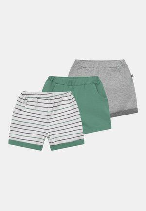 3 PACK - Shorts - green/grey