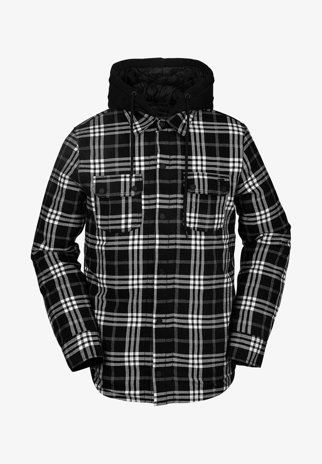 FIELD INS FLANNEL - Snowboardjas - black