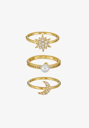 SET - Ring - clear/gold-coloured