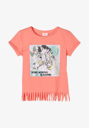MIT FRANSEN - Print T-shirt - coral