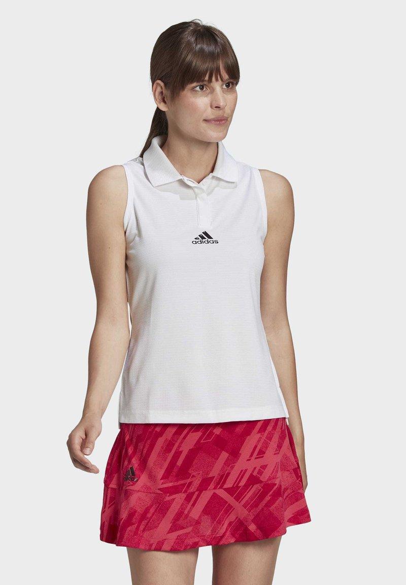 adidas Performance - TENNIS MATCH TANK TOP HEAT.RDY - Polo shirt - white