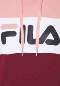 Fila Tall - LORI HOODY - Felpa con cappuccio - tawny port-coral cloud-bright white - 2