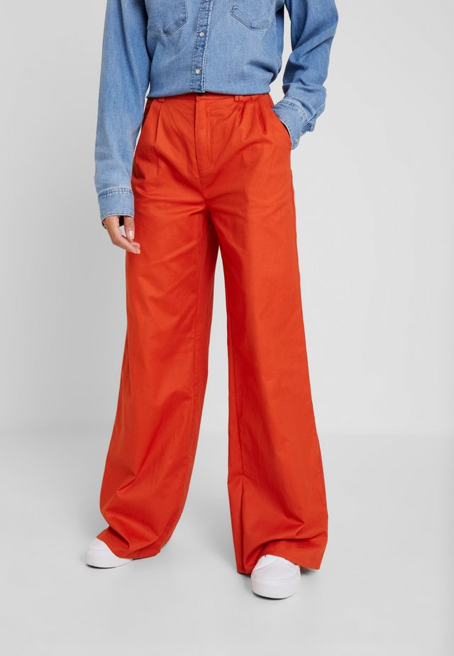 TAILORED WIDE TROUSERS - Trousers - blue