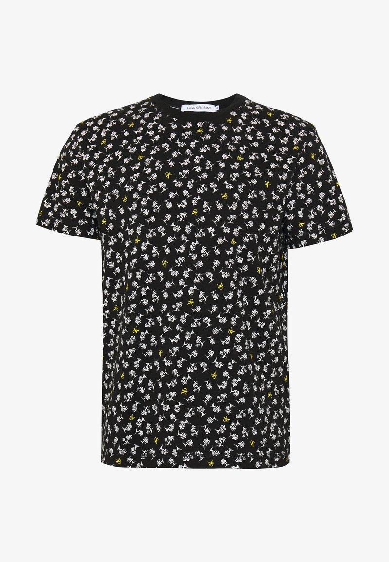 Calvin Klein Jeans - PALM TEE - Print T-shirt - black