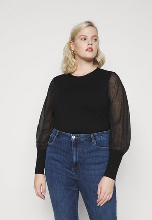 VMBELLISSIMO U BACK BLOUSE - Jumper - black