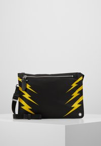 Neil Barrett - TIGER BOLT SACOCHE - Umhängetasche - black/yellow - 0