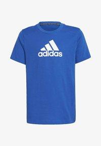 adidas Performance - LOGO T-SHIRT - Print T-shirt - blue - 0