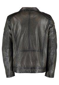 DNR Jackets - Leather jacket - dark green - 1