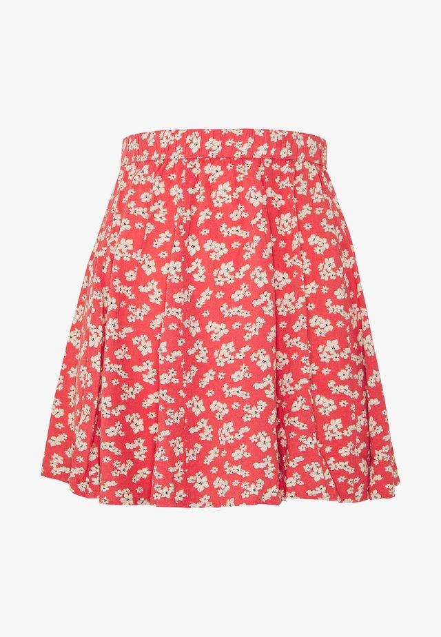 SUPER SKIRTY GODET MINI SKIRT - Jupe plissée - red