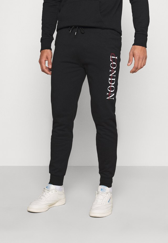 BASE LOGO TRACKSUIT - Collegepaita - black