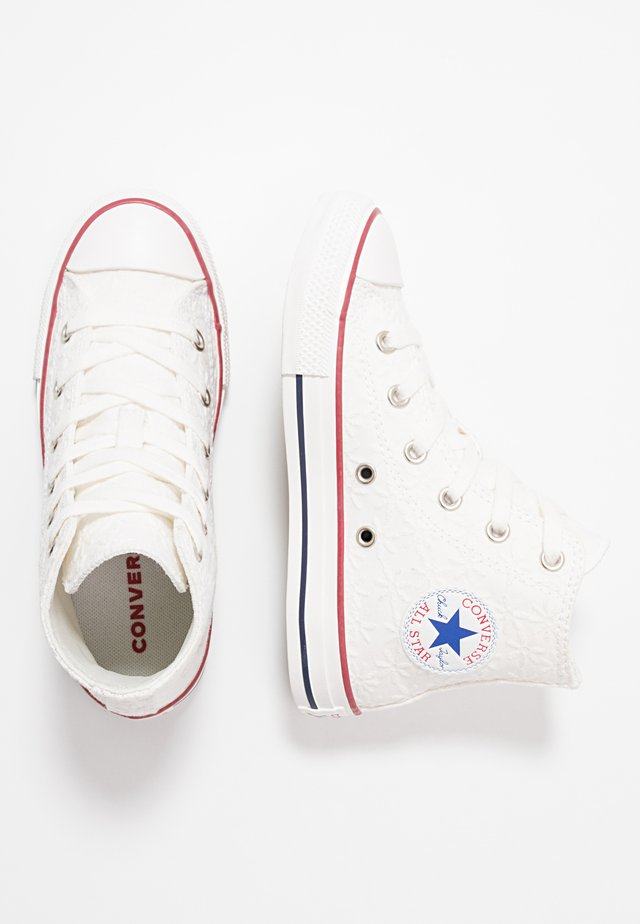 CHUCK TAYLOR ALL STAR LITTLE MISS CHUCK - Sneakers alte - white/garnet/midnight navy