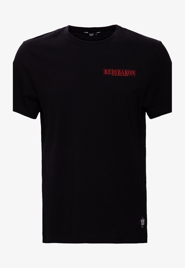 MIT BACK PRINT RED BARON - T-shirt imprimé - schwarz