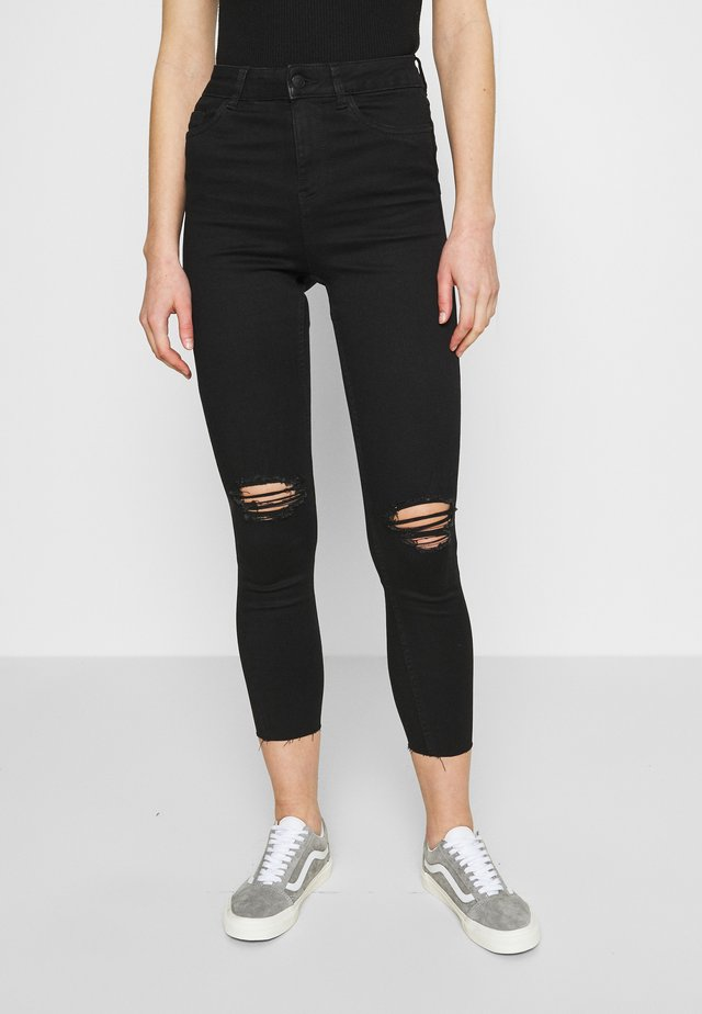 LIFT AND SHAPE  - Jeansy Skinny Fit - black