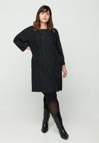 Zizzi - Jumper dress - dark grey - 1