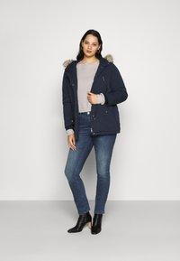 JUNAROSE - by VERO MODA - JRONEABBELINE - Slim fit jeans - dark blue denim - 1