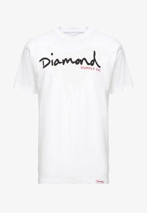 SCRIPT TEE - Print T-shirt - white