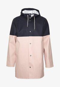 STOCKHOLM BLOCKED - Waterproof jacket - navy
