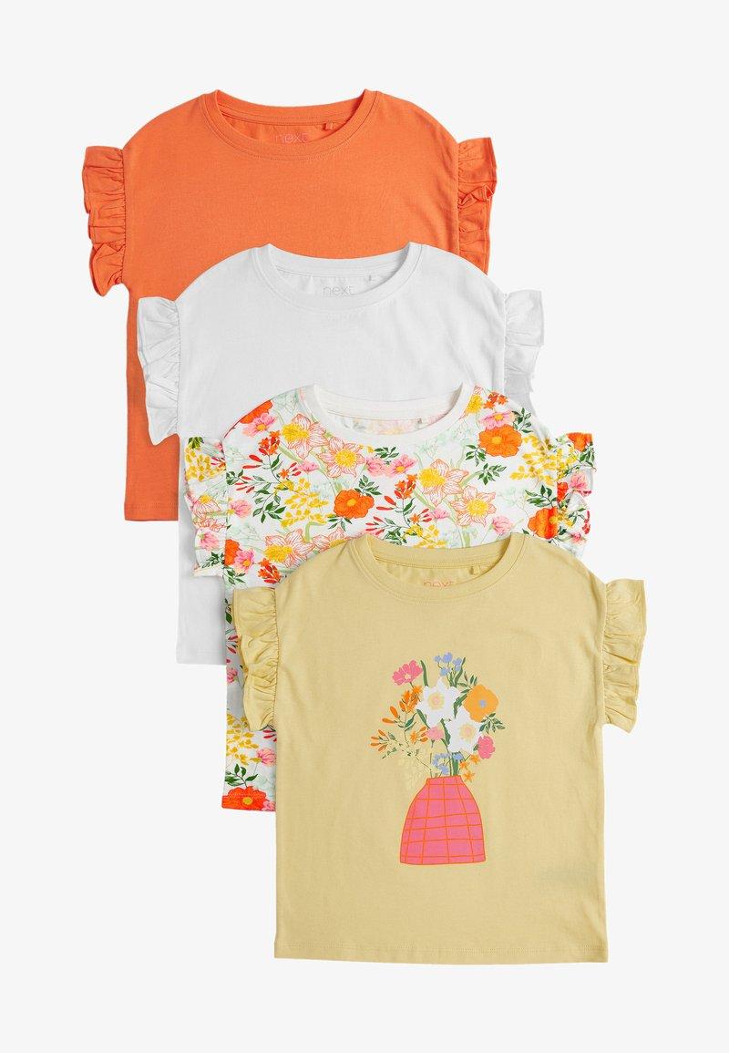 Next - 4 PACK - Print T-shirt - yellow