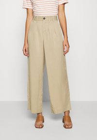 Banana Republic - WIDE LEG PLEATED PANT - Kalhoty - light sand dune - 0