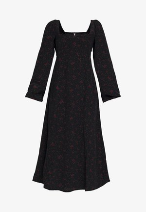 IRIS MIDI DRESS - Korte jurk - black