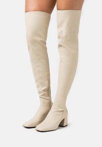 Monki - ARIANNE BOOT VEGAN - Over-the-knee boots - beige - 0