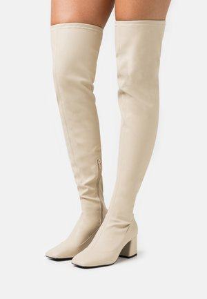 ARIANNE BOOT VEGAN - Kozačky nad kolena - beige