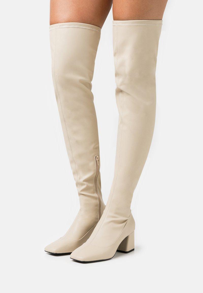 Monki - ARIANNE BOOT VEGAN - Over-the-knee boots - beige