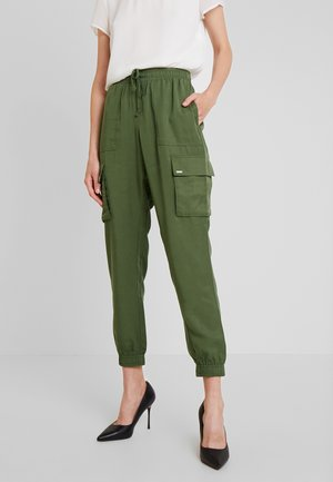 Tracksuit bottoms - fresh olive green