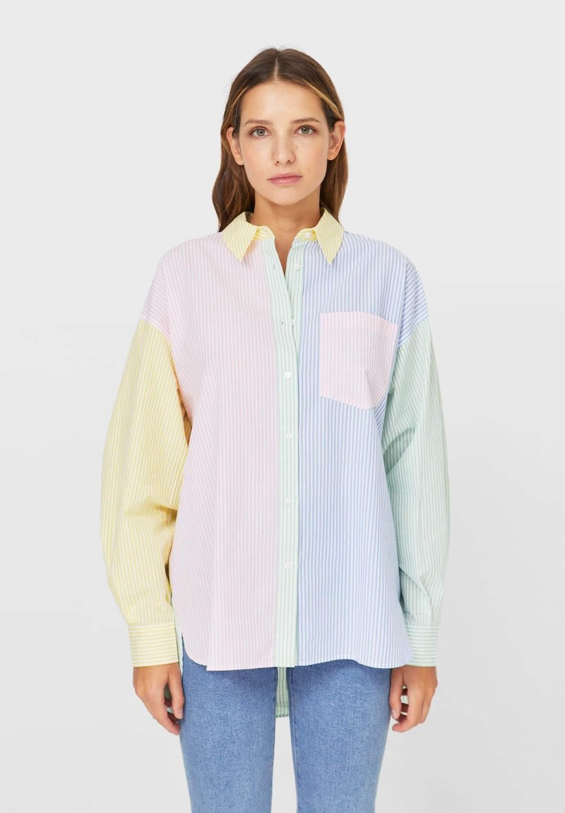 Stradivarius - Button-down blouse - multi-coloured