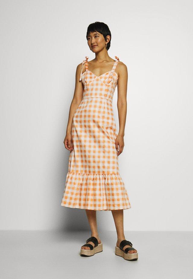TIE STRAP BUSTIER DRESS - Day dress - orange