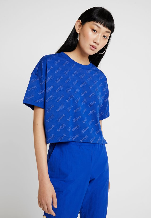 TEE PRINT - Print T-shirt - cobalt