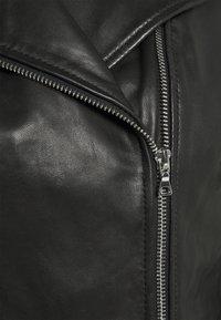 NAF NAF - CEPHEE - Veste en cuir - noir - 2