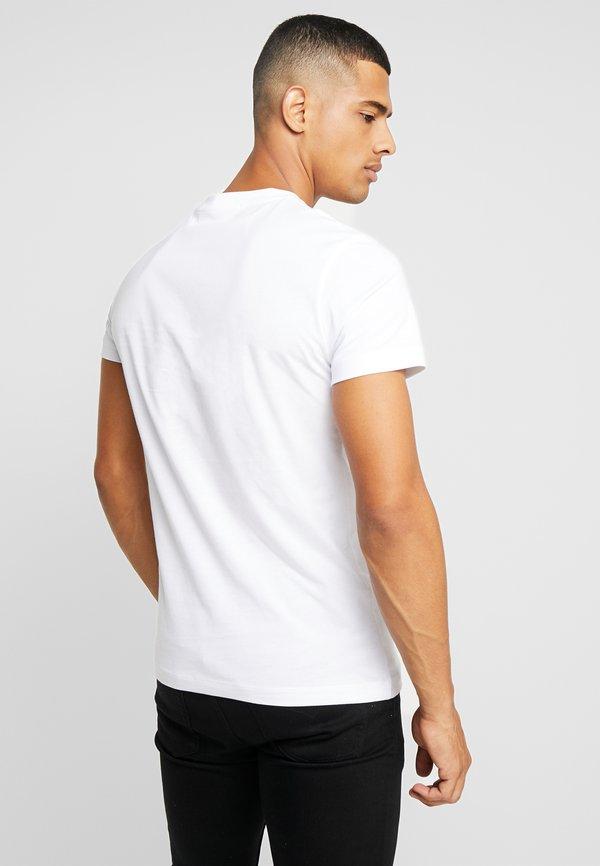 Calvin Klein Jeans ICONIC MONOGRAM SLIM TEE - T-shirt z nadrukiem - bright white/biały Odzież Męska TLYI