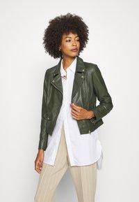 Ibana - FABIENNE - Leather jacket - green - 0