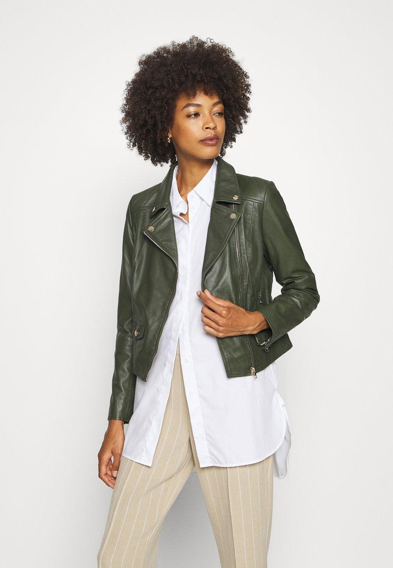 Ibana - FABIENNE - Leather jacket - green