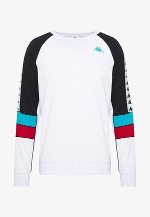 BANDA ARLTON - Sweatshirt - white/black/turqouis/red