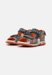 Friboo - LEATHER - Walking sandals - dark grey - 1