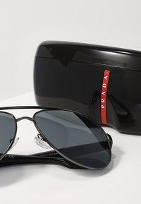 Prada Linea Rossa - LIFESTYLE - Sunglasses - gunmetal/light grey mirror black - 3