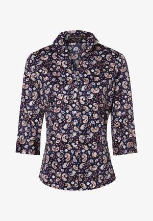 Button-down blouse - marine/rosa