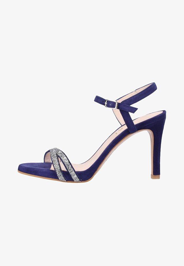 Sandały na obcasie - blue