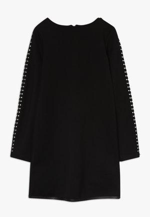 ABITO BORCHIETTE - Žerzejové šaty - nero