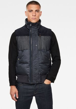 DENIM MIX QUILTED VEST - Light jacket - mazarine blue