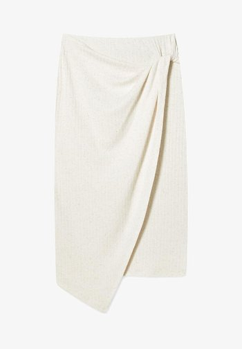 MIT KNOTEN  - Wrap skirt - stone